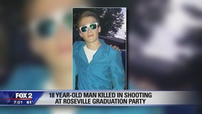 Teen dead after shooting at Roseville graduation party