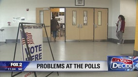 Voting got underway an hour late at a Detroit polling location