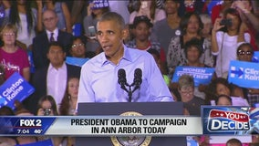 President Obama to speak in Ann Arbor ahead of Election Day