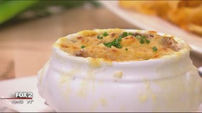 Karl's Cabin's caramelized onion dip