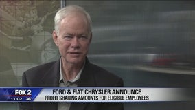 Union workers at Ford, Fiat Chrysler get large profit sharing checks