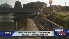 Teen thrown into Clinton River by intoxicated man
