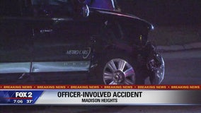 Madison Heights police officer injured in car accident