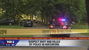 Suspect fatally shot by police in Waterford neighborhood