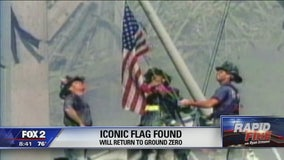 Iconic 911 flag finally found, will return to Ground Zero