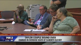 Taylor couple headed to trial after baby's overdose death