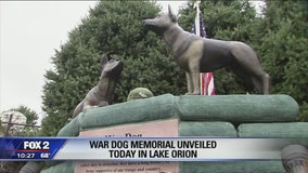 War Dog memorial dedicated in Lake Orion