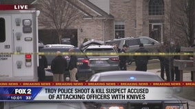 Man armed with knives fatally shot by Troy police officers: police