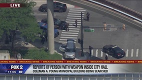 Authorities searching for weapon inside Coleman A. Young Municipal Building