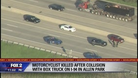 Motorcyclist killed after collision with box truck on I-94 in Allen Park