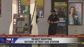 2 people shot, killed outside Detroit gas station