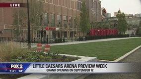 Little Caesars Arena ribbon cutting ceremony today