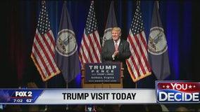 Trump speaking at Detroit Economic Club