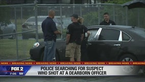Suspect who crashed into police car, fired shot at Dearborn officer in custody