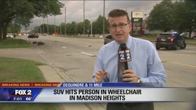 Person in wheelchair hit by car in Madison Heights