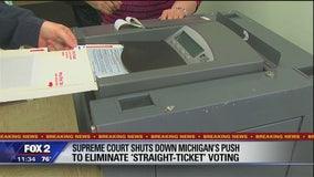 Michigan straight-party voting ban won't take effect