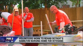 Volunteers work to rehab Detroit's Hamilton Nursing Home