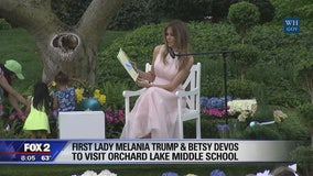 Melania Trump, Betsy Devos visiting middle school in West Bloomfield