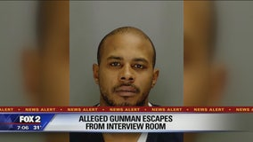Man escapes custody while being questioned for bar shooting in Pontiac
