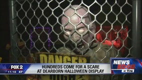 Homes in Dearborn drawing big crowds with Halloween display