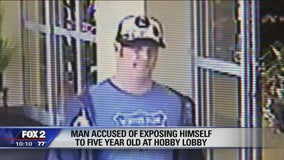 Police look for man who exposed himself to young girl at Hobby Lobby