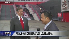 Final home opener at Joe Louis Arena tonight