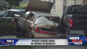 High-speed police chase ends in driveway of Berkley home