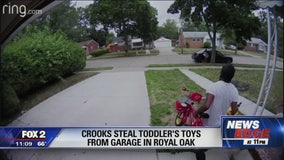 Thieves help themselves to toddler toys in Oak Park garage