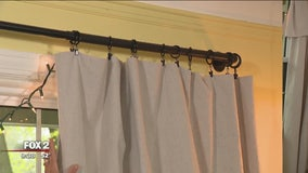 Using canvas drop cloths for curtains, and other DIY projects