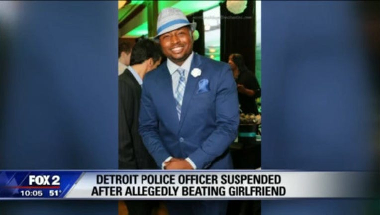 Detroit Police officer suspended after allegedly beating girlfriend