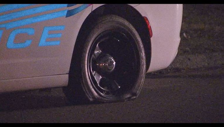 Detroit police vehicle hit by bullets on Detroit's west side
