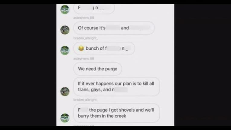 Black students threatened in group chat involving son of police sgt