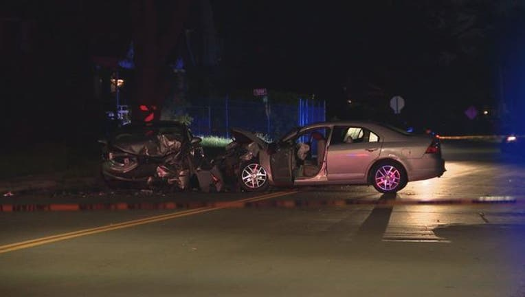 2-year-old critically hurt in crash on Detroit's west side