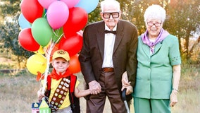 Little boy's 'Up' birthday photoshoot with great-grandparents will melt your heart