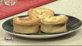 Ackroyd's Scottish Bakery cooks cheeseburger hand pies