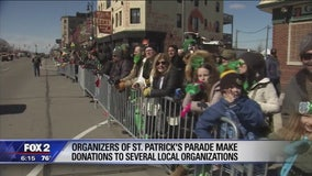 Detroit St. Patrick's parade organizers donate to area nonprofits