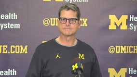 Harbaugh, Bredeson & Kemp as they ready for #14 Iowa Saturday on FOX 2