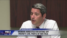 44-year-old who bit woman's ear off could be charged with two 10-year felonies