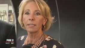 Education Sec. DeVos visits Detroit charter school, fires back at criticism