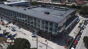 WATCH: Construction of Pistons new downtown Detroit practice facility almost done