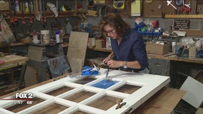 Fixing broken glass pane in your door with Jill of All Trades