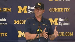 WATCH: Michigan's Harbaugh says he wouldn't lie about transfer