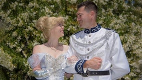 California woman born with congenital amputation dresses as Cinderella with glass arm