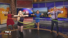 The Nine gets a lesson in Hula Hooping