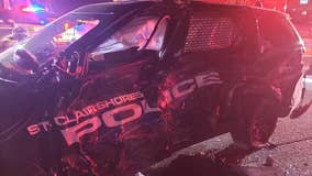 Driver hits parked St. Clair Shores' police car, investigators say alcohol was a factor