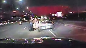 Troy PD dashcam shows super drunk woman with child in car arrest