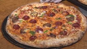 Pizza with a Mediterranean flare at Sicily's Pizza in Detroit