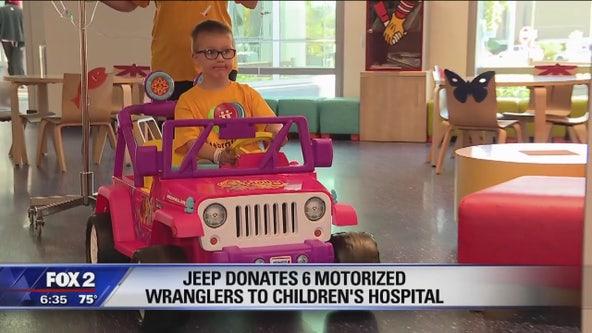Jeep donates 6 mini-Wranglers to Children's Hospital
