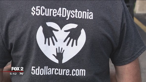 Jay Dunn has Dystonia, which cause his muscles to cramp and twist. He's now campaigning for a cure