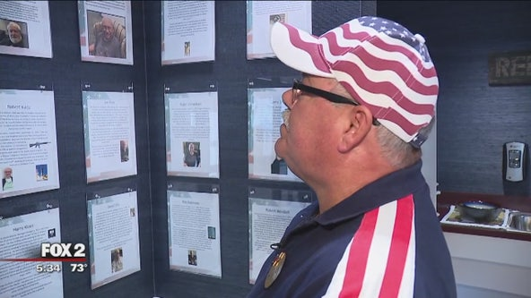 Brighton man memorializes veterans stories on wall tribute